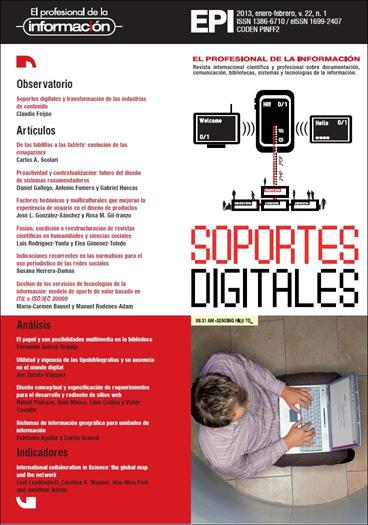 Ver Vol. 22 Núm. 1 (2013): Soportes digitales
