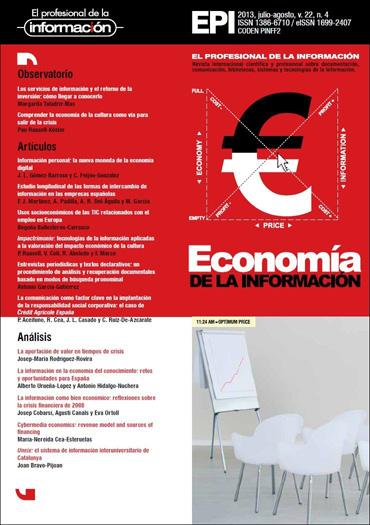 Ver Vol. 22 Núm. 4 (2013): Economía de la información