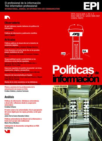 Ver Vol. 23 Núm. 2 (2014): Políticas de información