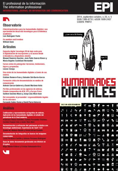 Ver Vol. 23 Núm. 5 (2014): Humanidades digitales