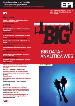 Ver Vol. 23 Núm. 6 (2014): Big data y analítica digital