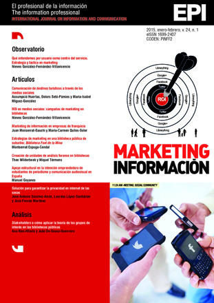 Ver Vol. 24 Núm. 1 (2015): Marketing de información