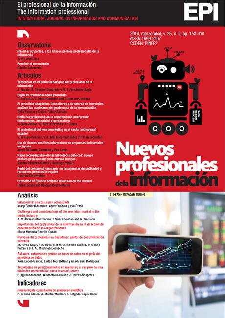 Ver Vol. 25 Núm. 2 (2016): Nuevos profesionales de la información