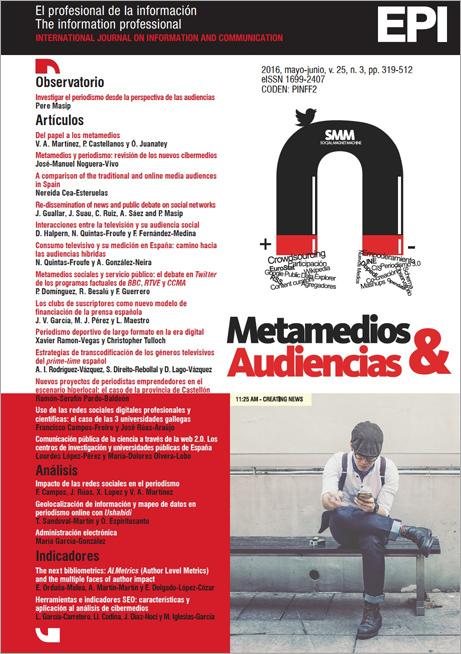 Ver Vol. 25 Núm. 3 (2016): Metamedios y audiencias