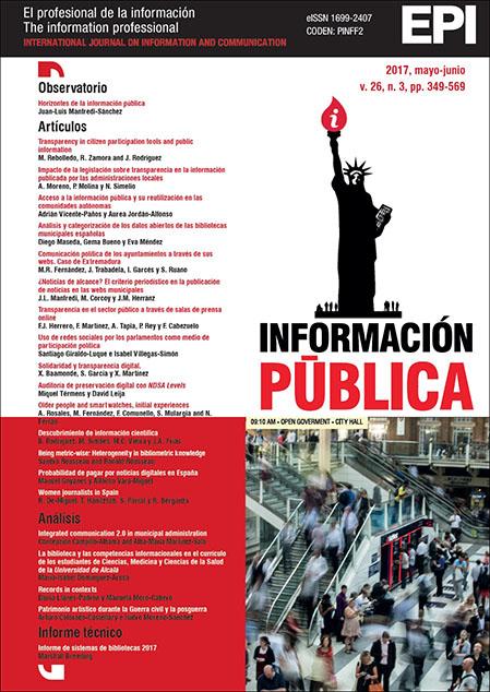 Ver Vol. 26 Núm. 3 (2017): Información pública