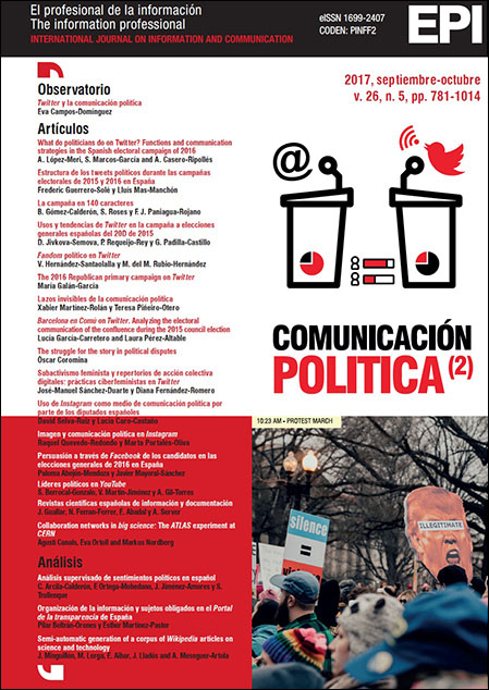 Ver Vol. 26 Núm. 5 (2017): Comunicación política II