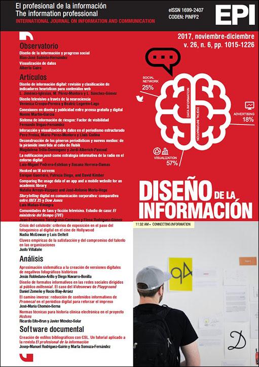 Ver Vol. 26 Núm. 6 (2017): Diseño de la información