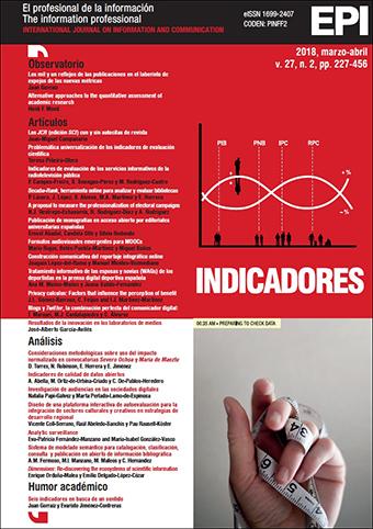 Ver Vol. 27 Núm. 2 (2018): Indicadores I