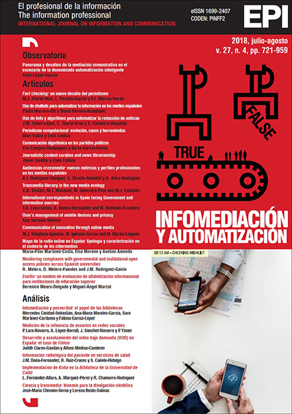 Ver Vol. 27 Núm. 4 (2018): Infomediación y automatización