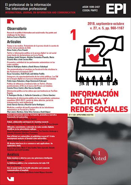 Ver Vol. 27 Núm. 5 (2018): Información política y redes sociales (I)