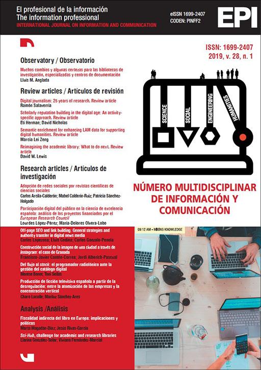 Ver Vol. 28 Núm. 1 (2019): Número multidisciplinar de Información y Comunicación