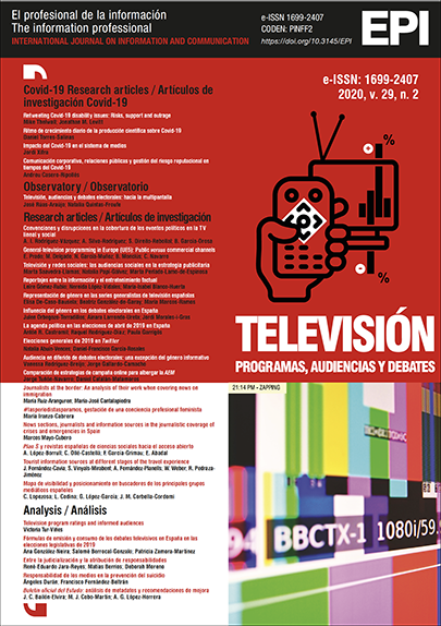 Ver Vol. 29 Núm. 2 (2020): Televisión: programas, audiencias y debates