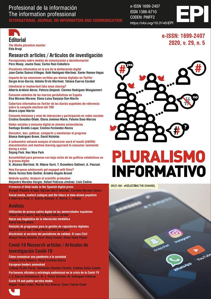 Ver Vol. 29 Núm. 5 (2020): Pluralismo informativo