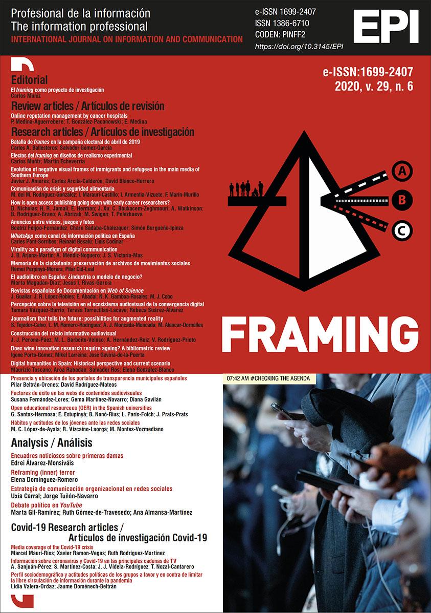 Ver Vol. 29 Núm. 6 (2020): Framing (Encuadre)