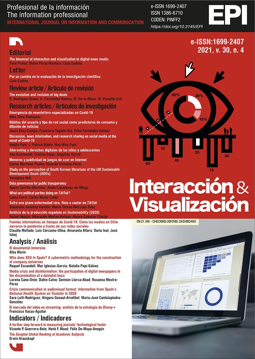 Ver Vol. 30 Núm. 4 (2021): Interacción y visualización