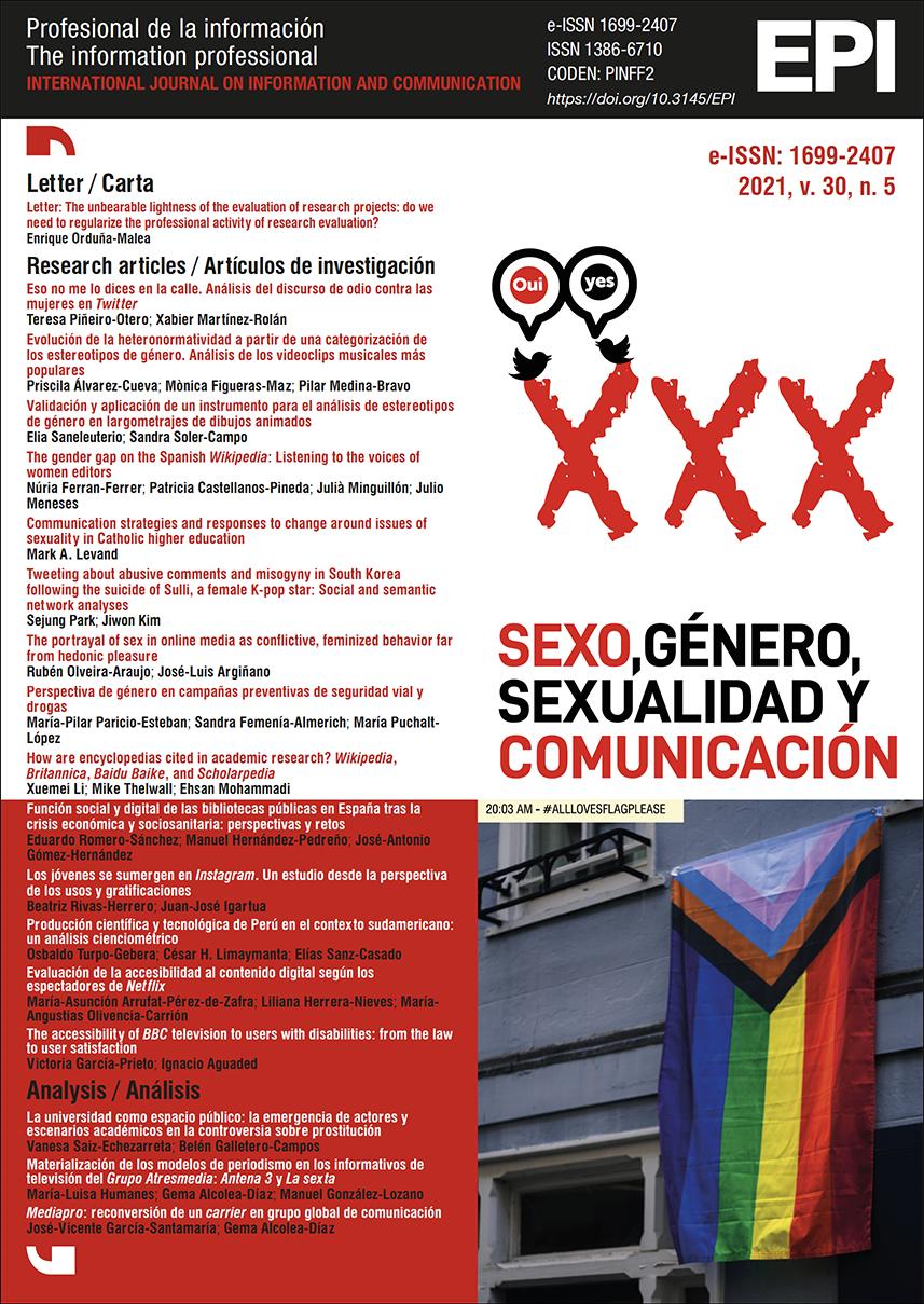 Ver Vol. 30 Núm. 5 (2021): Sexo, género, sexualidad y comunicación